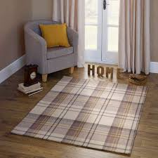 Brown Tartan Rug Balmoral Tartan Wool Rug Dunelm Alma Terrace Living Room Ideas