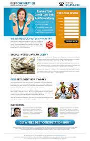 Credit Card Design Template Best Debt Management Business Lp 024 Debt Landing Page Design