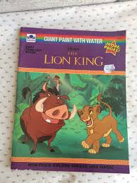 disney u0027s lion king book lion king giant paint