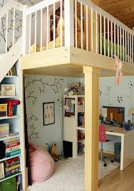 Loft Bed With Desk For Teenagers Teenage Room Small Under Loft Bed Storage Combined With White
