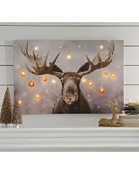 slash prices on moose led canvas print