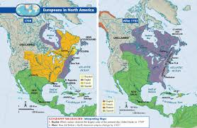 america map before and after and indian war and indian war inside america map in 1754