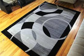 Black Modern Rugs Rise Blue And Black Modern Area Rug The Furnish Your