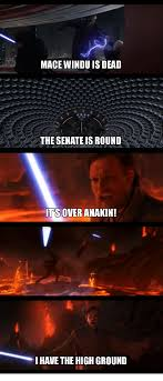 Mace Windu Meme - mace windu is dead the senate is round it s over anakin ihave the
