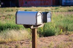 cassetta della posta americana cassette delle lettere americane fotografia stock immagine di