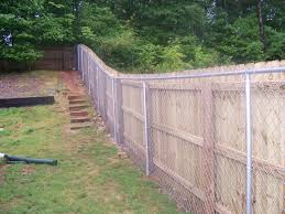 Decorate A Chain Link Fence How To Install A Wood Fence Fearsome On Modern Home Decoration