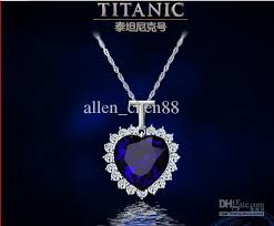 diamond blue necklace images Wholesale fashion jewelry big titanic memory necklace blue diamond jpg