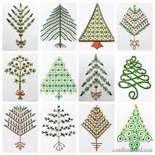 embroidered christmas twelve embroidered trees for christmas needlenthread