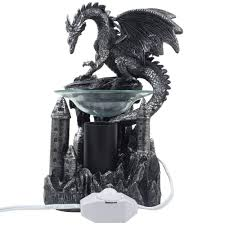 Home Decoration Statues Amazon Com Mythical Winged Dragon Guarding Castle Electric Oil