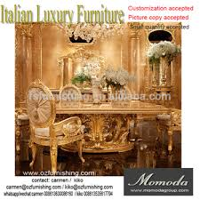 gold dining table set momoda new arrival luxury golden dining table with beige velvet