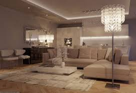 Luxury Living Room by Open Plan Luxurious Living Room Interior Furniture With Lighting