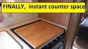 sink covers for more counter space more rv counter space camco 43521 stove top youtube