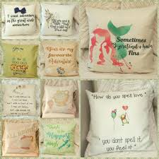 disney princess pooh bear quotes cushion cover pillow case home