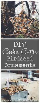 diy cookie cutter birdseed ornaments the house homestead