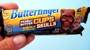 halloween butterfinger peanut butter cup skulls candy review youtube