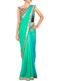 priti sahni pretty sea green ombre saree shop sarees at