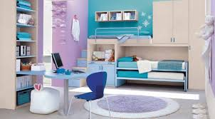 interior desk set and modern girly study room with pink polished
