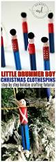 little drummer boy christmas clothespin tutorial