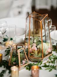 mini chandelier centerpieces terrarium centerpiece in mixed metallics gold rose gold and