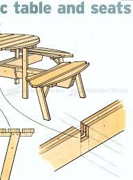 circular picnic table plans u2022 woodarchivist