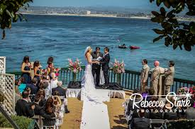 monterey wedding venues hot pink and navy wedding at the monterey plaza hotel