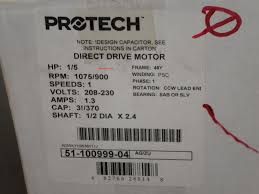 51 100999 04 rheem ruud 1 5th h p condenser fan motor
