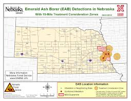 Nebraska Time Zone Map by Emerald Ash Borer Nebraska Information