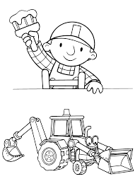 pin bob builder coloring pages