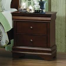 cherry finish nightstand wayfair