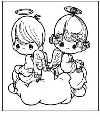 free printable angel coloring pages for kids with angels eson me