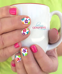 summer glimpse fun nails manicure and tutorials