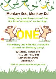 monkey invitations baby shower printable monkey invitation invite diy monkey stripes birthday