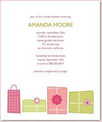 registry bridal shower wedding invitations registry information attractive designs