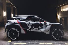 pejo car new race car peugeot 3008 dkr u2013 dakar rally red bull