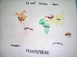 7 Continents Map Montessori On Mars Playing With The Planisphere Or Working With