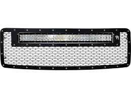 2013 f150 light bar 2013 2014 ford f150 grille with 30 rds led light bar trux unlimited