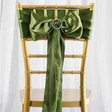 Chair Sashes For Weddings 5 Pcs Moss Willow Satin Chair Sashes Tie Bows Catering Wedding