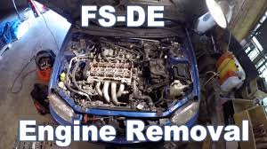 mazda protege engine removal youtube