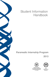 paramedic internship student handbook 2013 by saas clinical