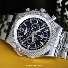 breitling bentley back breitling a47362 bentley gmt pre owned watch
