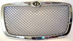 chrysler grill replacement chrome mesh grill fits chrysler 300 300c 04 07 bentley