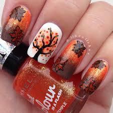 55 seasonal fall nail art designs black polish brown and black