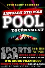customizable design templates for pool tournament poster