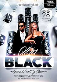 free download all in black party free psd flyer template photoshop