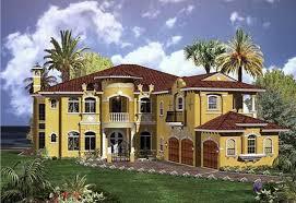 spanish mediterranean homes with beautiful flower garden home