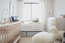 boy nursery with guest bed transitional nursery