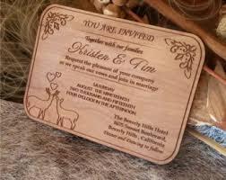 engraved wedding invitations wooden invitations etsy