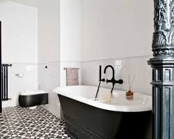 Houzz Black And White Bathroom Top Black And White Tile Floor Bathroom Black And White Bathroom