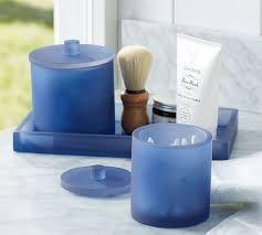 blue bathroom accessories interiors design