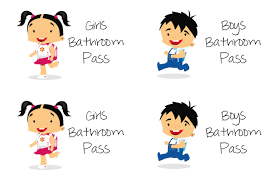 bathroom pass ideas student restroom cliparts 264235